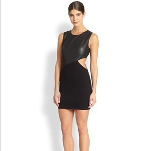 ‼️BCBGmaxazria S black Kay Leather Cutout Dress